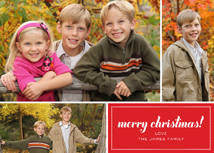 merry christmas! Holiday Photo Card