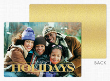 Dream Big Flat Holiday Photo Cards